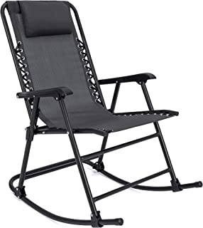 Best Choice Products Foldable Zero Gravity Rocking Mesh Patio Recliner Chair w/Headrest..