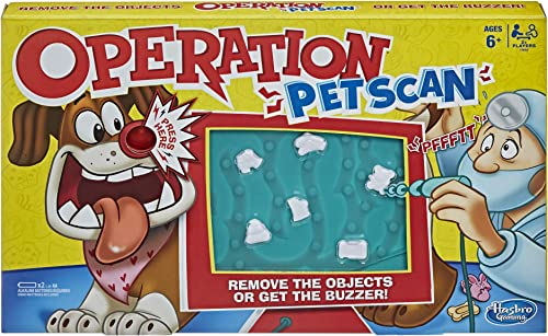 Operation- Pet Scan Board Game with Silly Sounds- Remove The Objects or Get The Buzzer- 2+ Players- Kids Toys and Gam...