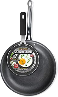 """GRANITESTONE 2687 11"""" Frying Pan with 5.5"""" Egg Pan, Non-stick, No-warp, Mineral-enforced, PFOA-Free, Dishwasher-safe As Seen On TV"""
