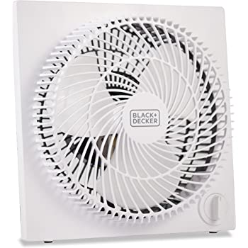 BLACK+DECKER Mini Box Fan – Tabletop Quiet 9 Inch Desk Box Fans Frameless BFB09W White