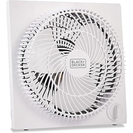 BLACK+DECKER Mini Box Fan – Tabletop Quiet 9 Inch Desk Box Fans Frameless BFB09W White