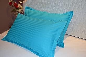 "Trance Home Linen 100% Cotton Pillow Covers/Pillow Case/Pack Of 2-25"" X 17"" (Aqua Turquoise Blue)"