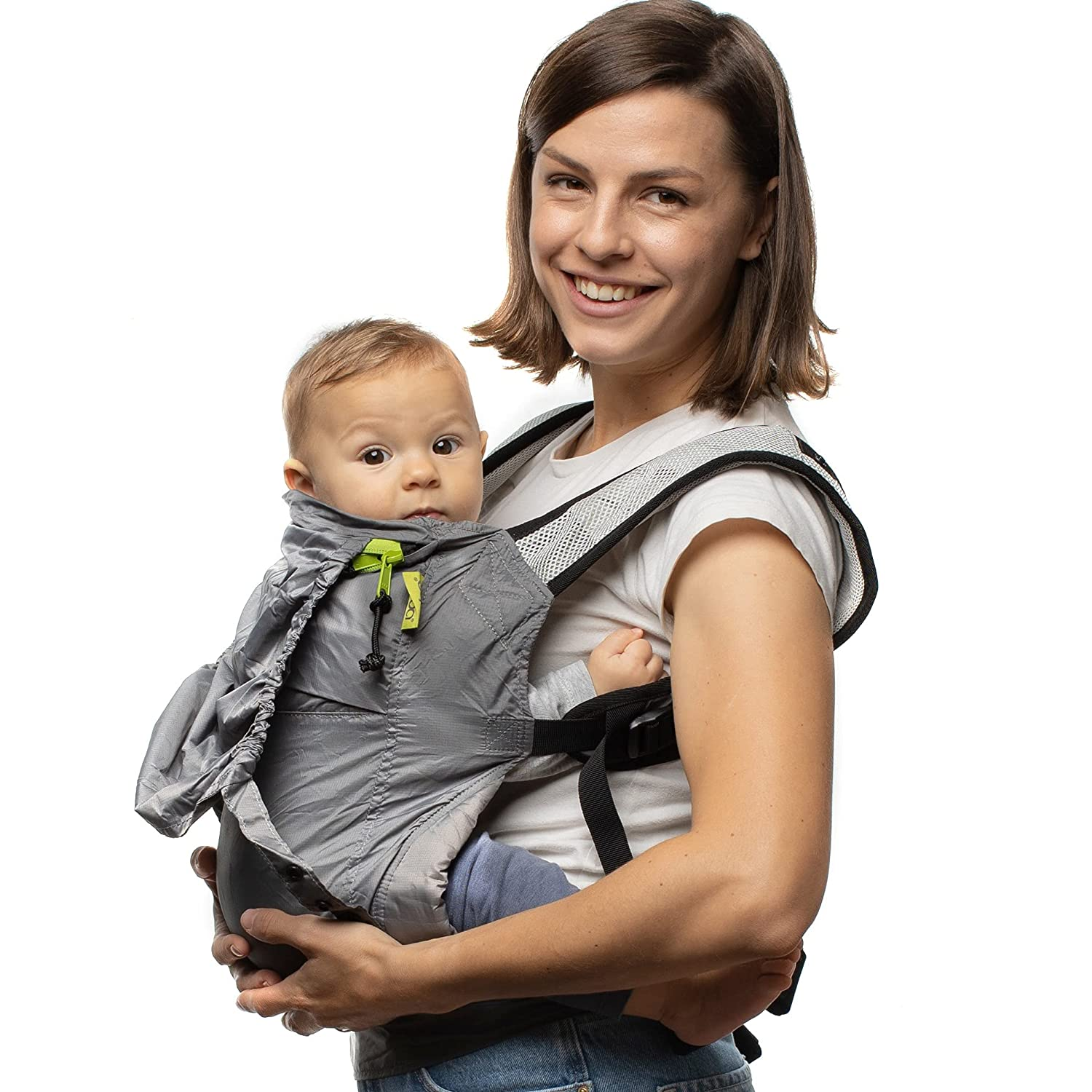 Boba Air Baby Carrier - Grey - Breathable mesh Shoulder Straps, Padded Leg Openings for Extended Support and Comfort