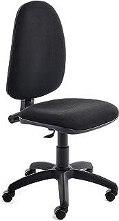 Rocada   Silla de Oficina Ergonómica   Silla de Escritorio Negra, Cómoda, Ajustable y con Ruedas