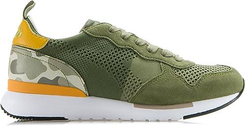 Diadora Heritage Herren Damen Schuhe Turnschuhe Aus Textil Und Wildleder & 039;Trident EVO Light& 039; Grün