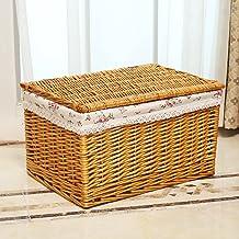 Boîte De Rangement Avec Couvercle Boîte De Rangement En Rotin Tissé Boîte De Rangement Vêtements Jouet Maison Boîte De Ran...