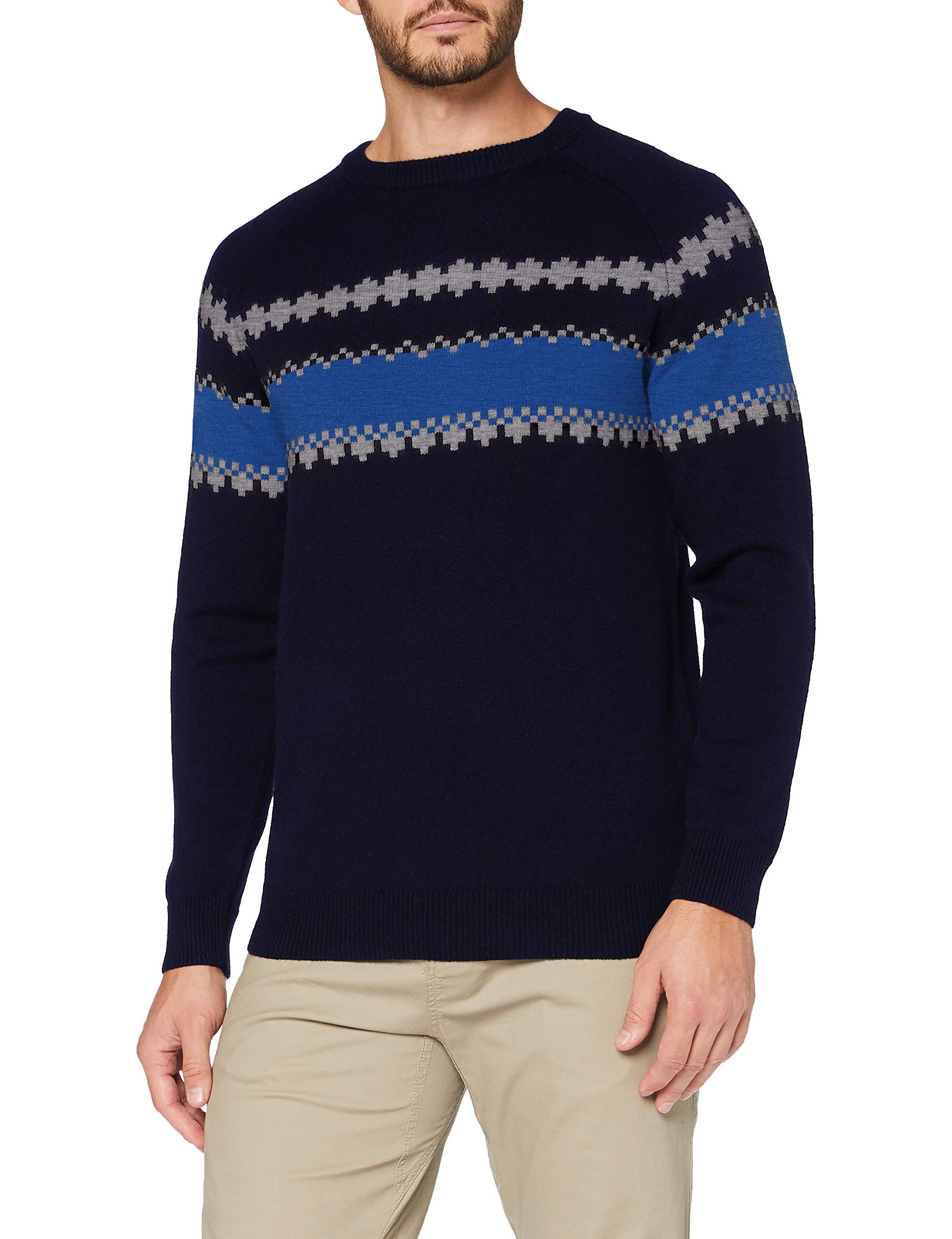 Helly Hansen Herren Wool Knit Sweatshirt, Navy, S