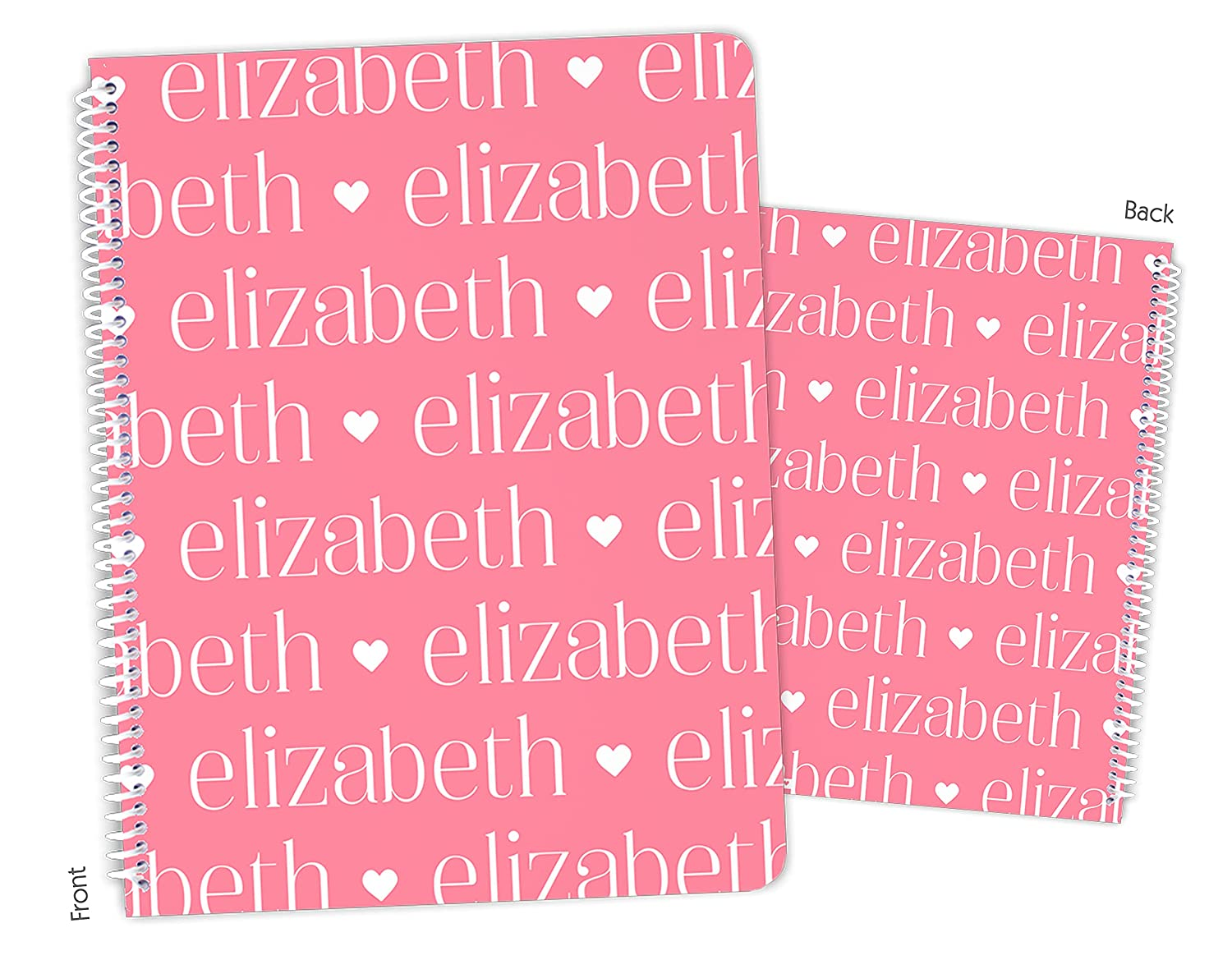 Beauty products Personalized 4 years warranty Name Hearts ANY COLOR Notebook Sketchb Bound Spiral