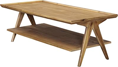 Collective Design Rectangular 2-Tier, Natural Coffee Table