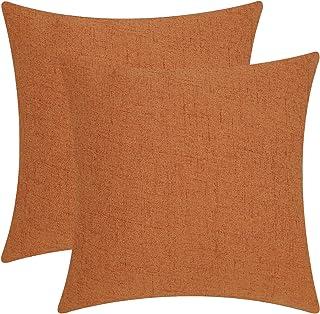 Bai You Mei BYM Sofakissen 2er Set Kissenbezüge Dekorative Set Kissen Fall für Sofa Schlafzimmer Auto Bett 45cm x 45cm Orange