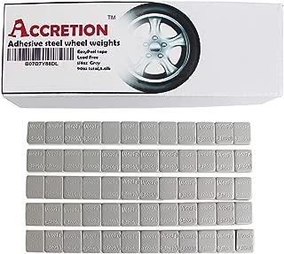 Accretion 1/4 Oz, 0.25 Oz, Grey, Wheel Weights (Lead Free), Duraco Dubl Kote Tape -2 mm Wide. Easy to Peel. Low Profile, 90 Oz Total, 3 Oz/Strips, 5.6 Lbs(360 Pcs)