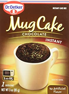 Dr. Oetker Mug Cake Chocolate Instant Cake Mix 3-Ounce (Pack of 4)