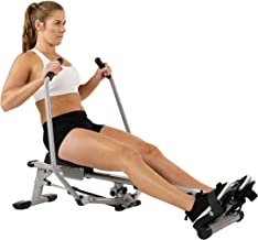 Sunny Health & Fitness Unisex Adult SF-RW5639 Full Motion Rowing Machine - Silver, One Size