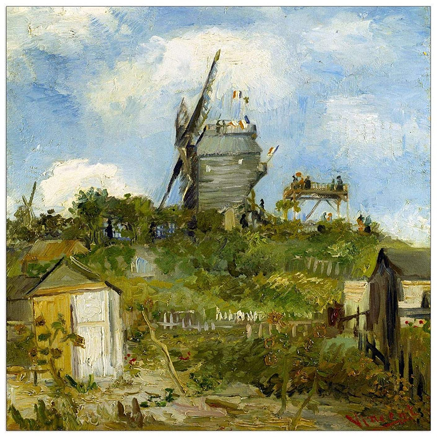 ArtPlaza TW90584 Van Gogh Vincent - Blut Fin Windmill Decorative Panel 31.5x31.5 Inch Multicolored