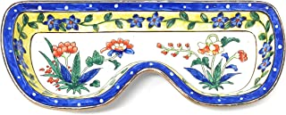 Kelvin Chen Colorful Tropical Flowers 6.5 Inches Long Enameled Holder Eyeglass Tray