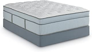 Scott Living By Restonic Lauriston Euro Top Micro Coil Bed Mattress Hybrid, King, White