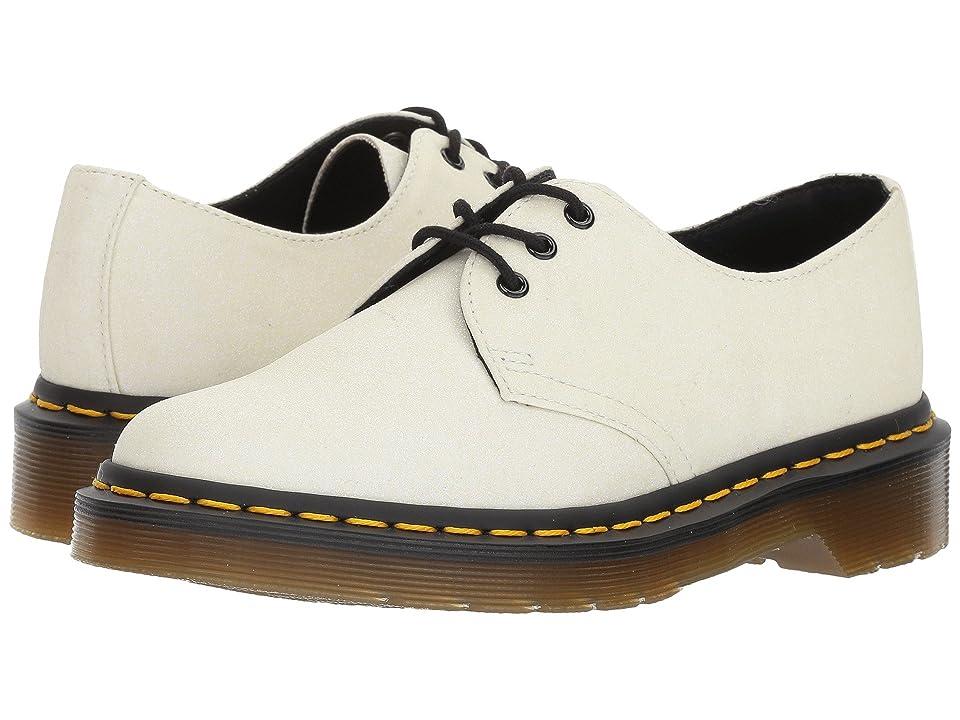 Dr. Martens 1461 Glitter 3-Eye Shoe (White/Aurora Purple Glitter PU) Women