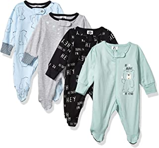 Baby Boys' 4 Pack Sleep 'N Play Footie