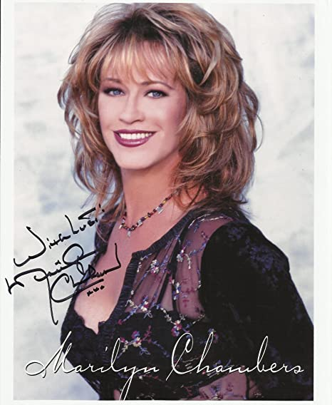 Marilyn chambers photos Marilyn Chambers Hand Signed 8 X 10 Photo C Of A 1 At Amazon S Entertainment Collectibles Store