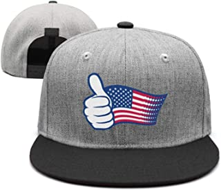 Unisex 4th of July American Flag Independent Printed Cute Flat Brim Baseball Caps Adjustable