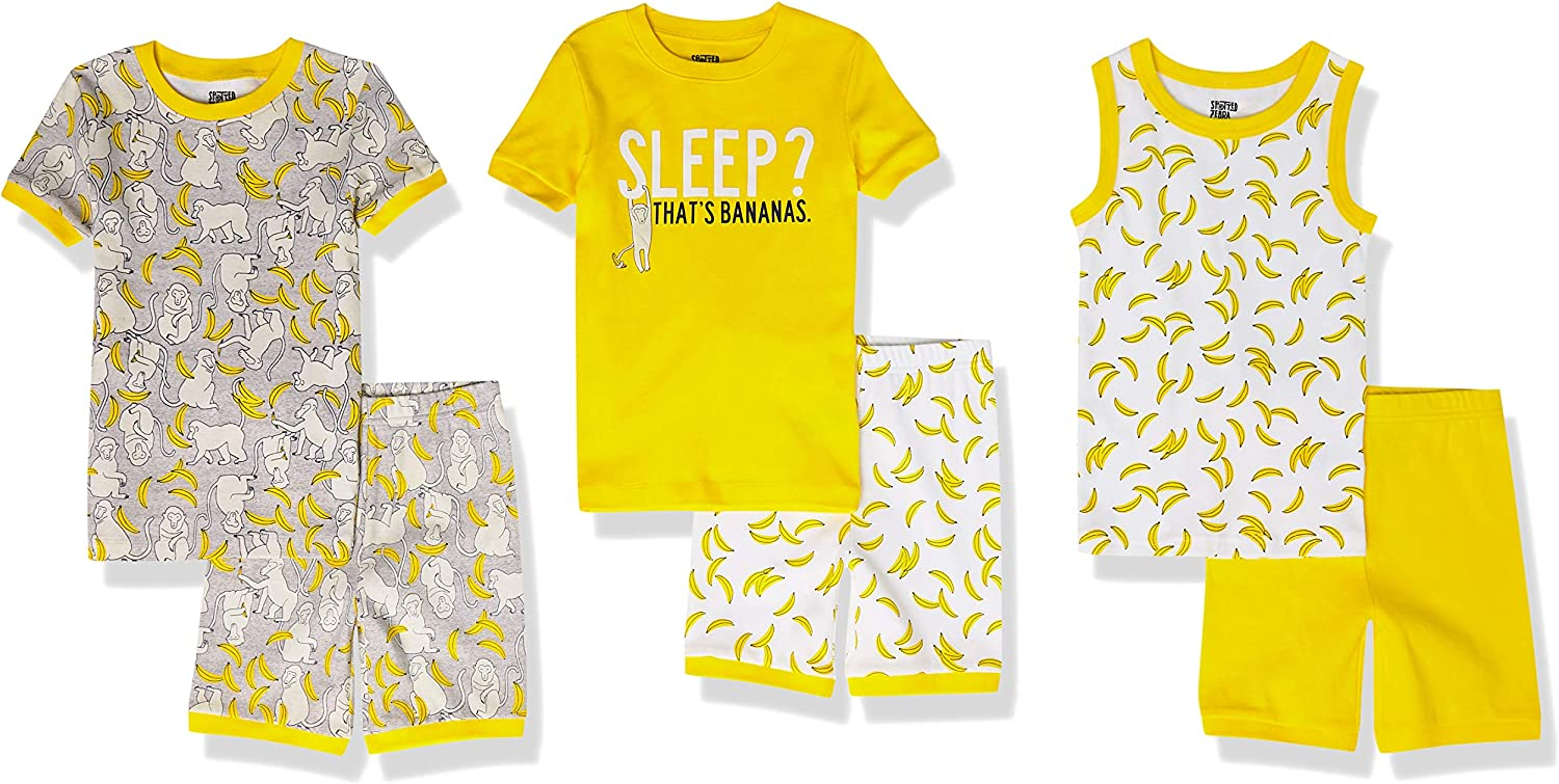 Spotted Zebra Boys' Snug-Fit Ranking TOP5 2021 autumn and winter new Pajamas Cotton Sets Sleepwear