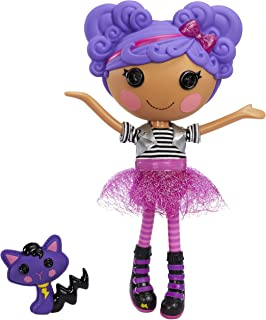 """Lalaloopsy Doll - Storm E. Sky with Pet Cool Cat, 13"""" Rocker Musician Purple Doll with Changeable Pink and Black Outfit an..."""