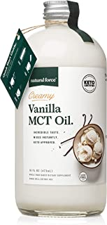 Natural Force Creamy Vanilla MCT Oil – Non Dairy, Keto Certified, Emulsified MCTs for Low-Carb, Ketogenic Coffee, Smoothie...