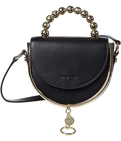 See by Chloe Mara Evening Bag Suede Combo (Black) Cross Body Handbags