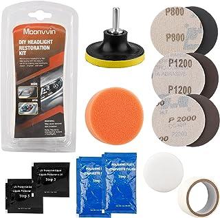 LATO Auto Koplamp Restorer Kit Koplamp Reiniging Tool om Dull Faded Verkleurde Koplampen Geschikt Voor Auto's Fietsen Moto...