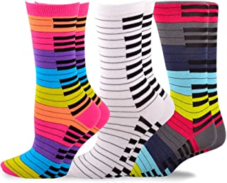 TeeHee Music Cotton No Show, Crrew and Knee Hi Socks for Wom