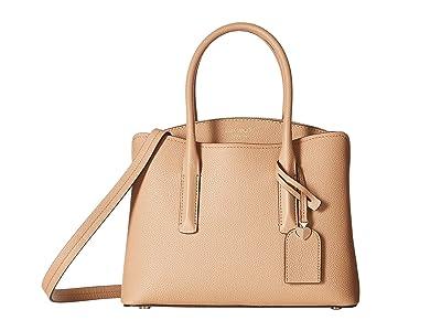 Kate Spade New York Margaux Medium Satchel (Light Fawn) Satchel Handbags