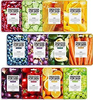 FARMSKIN Freshfood Salad For Skin Beauty Facial Sheet Mask 12 Sheets Set