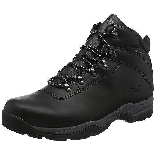 2fce423dfcc Black Leather Walking Boots: Amazon.co.uk