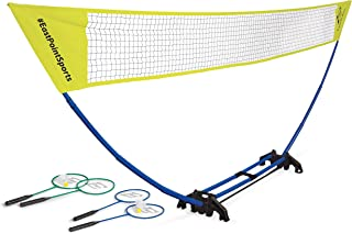 EastPoint Sports Easy Setup Regulation Badminton Set with Carry Storage Base, Net, 4..