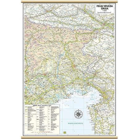 Cartina Fisica Del Friuli Venezia Giulia.Friuli Venezia Giulia Carta Regionale Murale 47x70 Cm Belletti Amazon It Cancelleria E Prodotti Per Ufficio