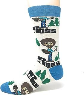 JYinstyle Funny Novelty Socks Mens Crew Always Bob Ross