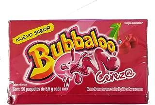 Adams Bubbaloo Cherry Mexican Gum. Delicious Cherry flavor liquid filled. 1 Pack (50pcs).