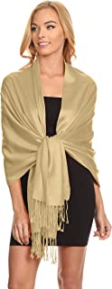 Simlu Womens Scarfs Silky Pashmina Shawl Wrap Scarves for Women Stole Shawls