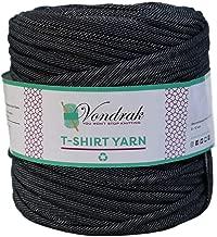 T-Shirt Yarn Recycled 130 Yards 1.5 lb│Jersey Yarn│Fabric Yarn │T Shirt Yarn for Crochet │ Knitting Tshirt Yarn │ Home Decor Supply │ Recycled Yarn │Eco Friendly Yarn Trapillo (Denim Style Black)