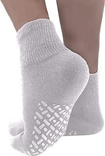 Diabetic Socks Non-slip Grip Mens/Womens Cotton 3-Pack Ankle/Crew Three Colors By DEBRA WEITZNER