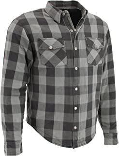 Milwaukee Performance Men's Checkered Flannel Biker Shirt With Aramid (Black/Grey, M)