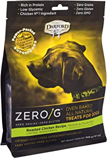 Darford - Zero/G Roasted Chicken Recipe Dog Treats, 12Oz Pouch