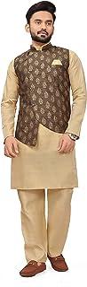Amzira Kurta Pajama with Nehru Style Koti Set for Mens Ethnic Wear