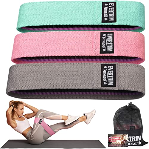 Resistance Bands for Legs and Butt, Exercise Bands Booty Bands Hip Bands Wide Workout Bands Sports-Fitness Bands Stre...