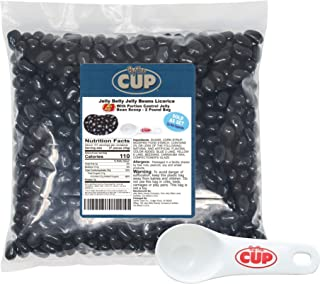 Jelly Belly Jelly Beans Licorice Bulk 2 Pound Bag with By The Cup Portion Control Jelly Bean Scoop
