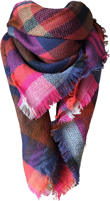 MOTINE Tartan Blanket security Scarf Stylish Warm Wrap Sh Winter San Diego Mall Pashmina