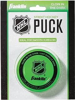 Franklin Sports Street Hockey Puck - Glow in The Dark - NHL