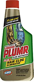 Liquid-Plumr Hair Clog Eliminator Removes Tough Hair Clogs, 16 Ounces