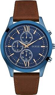 ساعة جيس للرجال بمينا زرقاء وكرونوغراف جلد - W0876G3