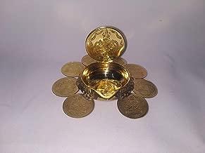 SPS MARKETING by Kumbakonam Traditional Lakshmi Deepam Raja Kubera Vilakku/Gaja Lakshmi Diya Orginal Brass (Yellow Gold)